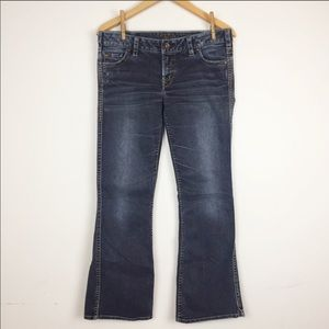a0a2e5be Silver Jeans Jeans - SILVER Frances Flare Leg Medium Wash Jean Whisker